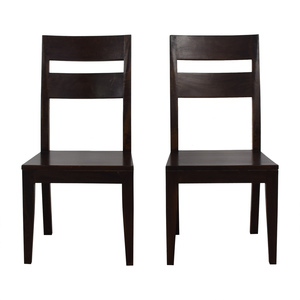 Crate & Barrel Crate & Barrel Wood Dining Chairs discount