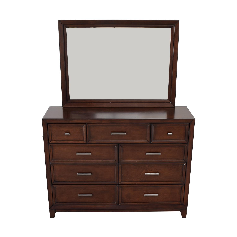 Home Meridian International Home Meridian International Fairview Storage Bedroom Dresser and Mirror on sale