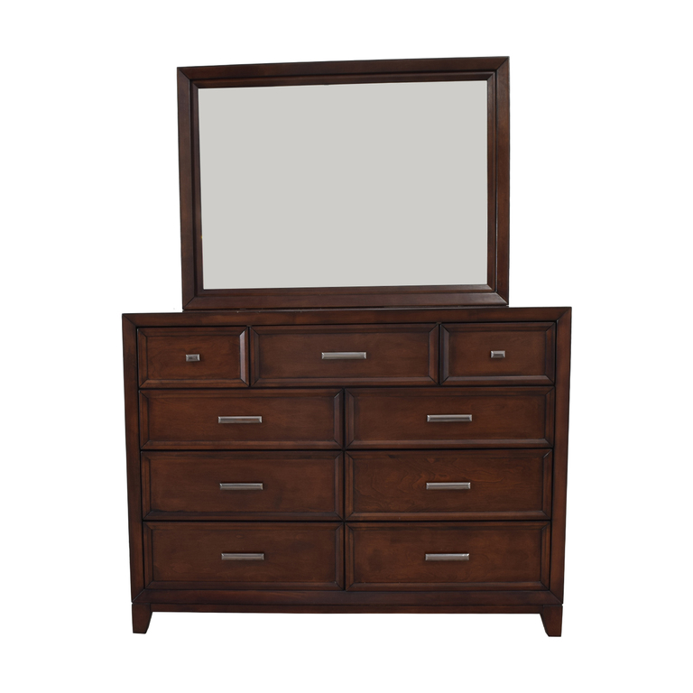 Home Meridian International Fairview Storage Bedroom Dresser and Mirror Home Meridian International