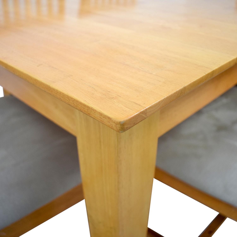Maple Wood Extendable Dining Set Beech
