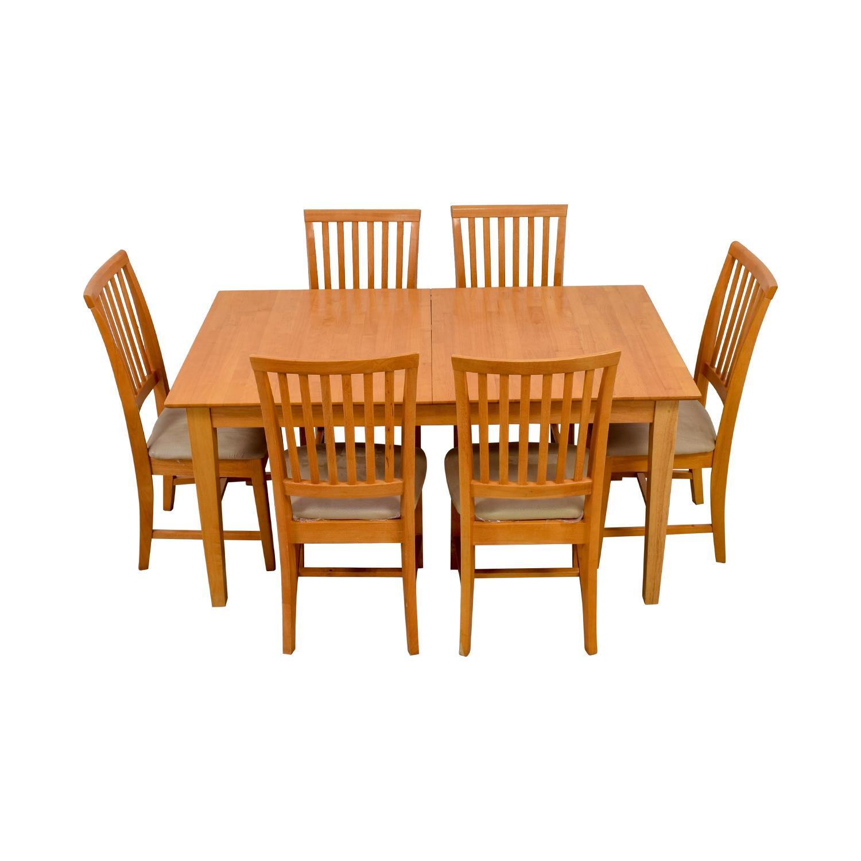 shop Maple Wood Extendable Dining Set
