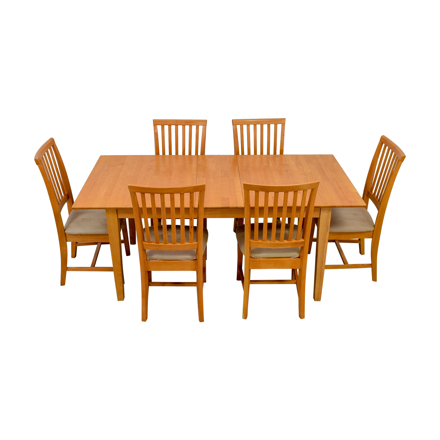 Maple Wood Extendable Dining Set used