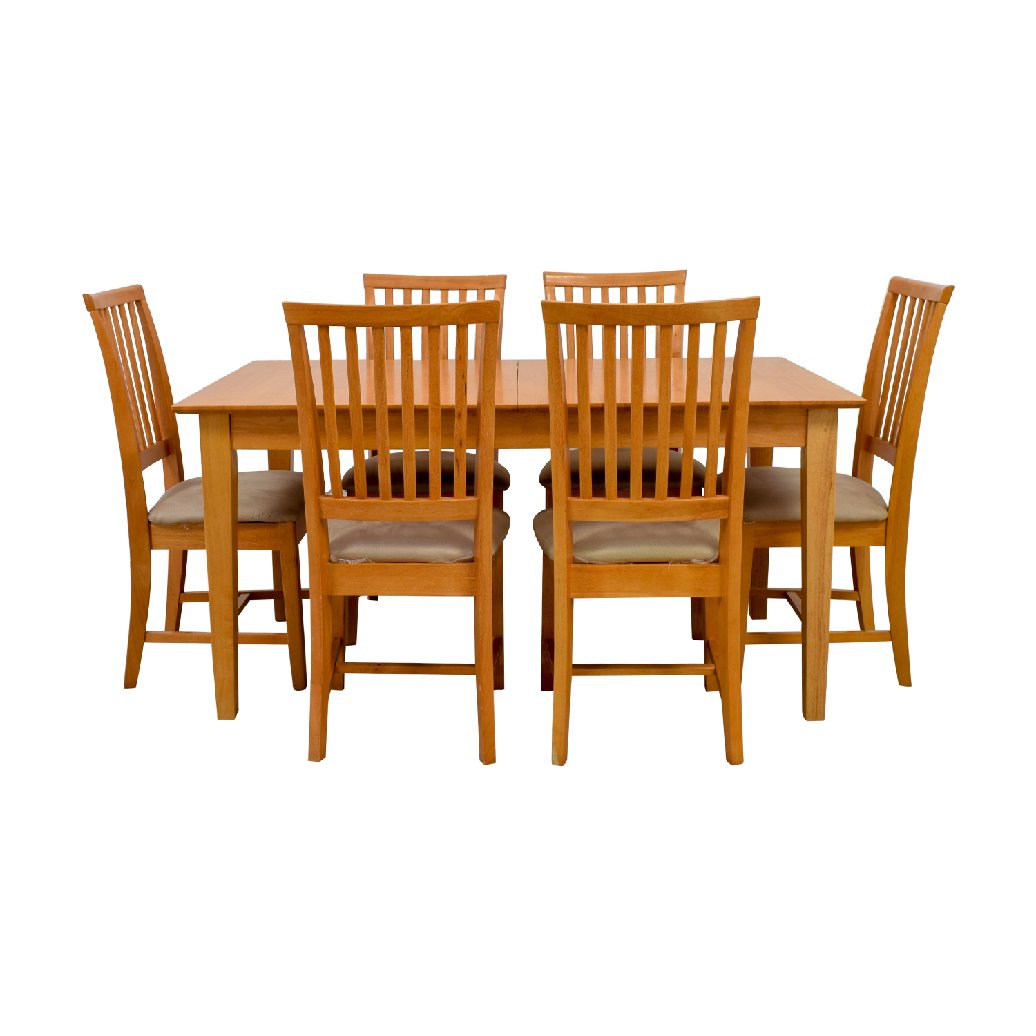 Maple Wood Extendable Dining Set second hand