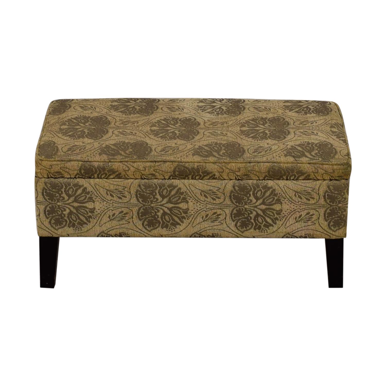 shop T J Max Beige and Grey Fabric Ottoman T J Max