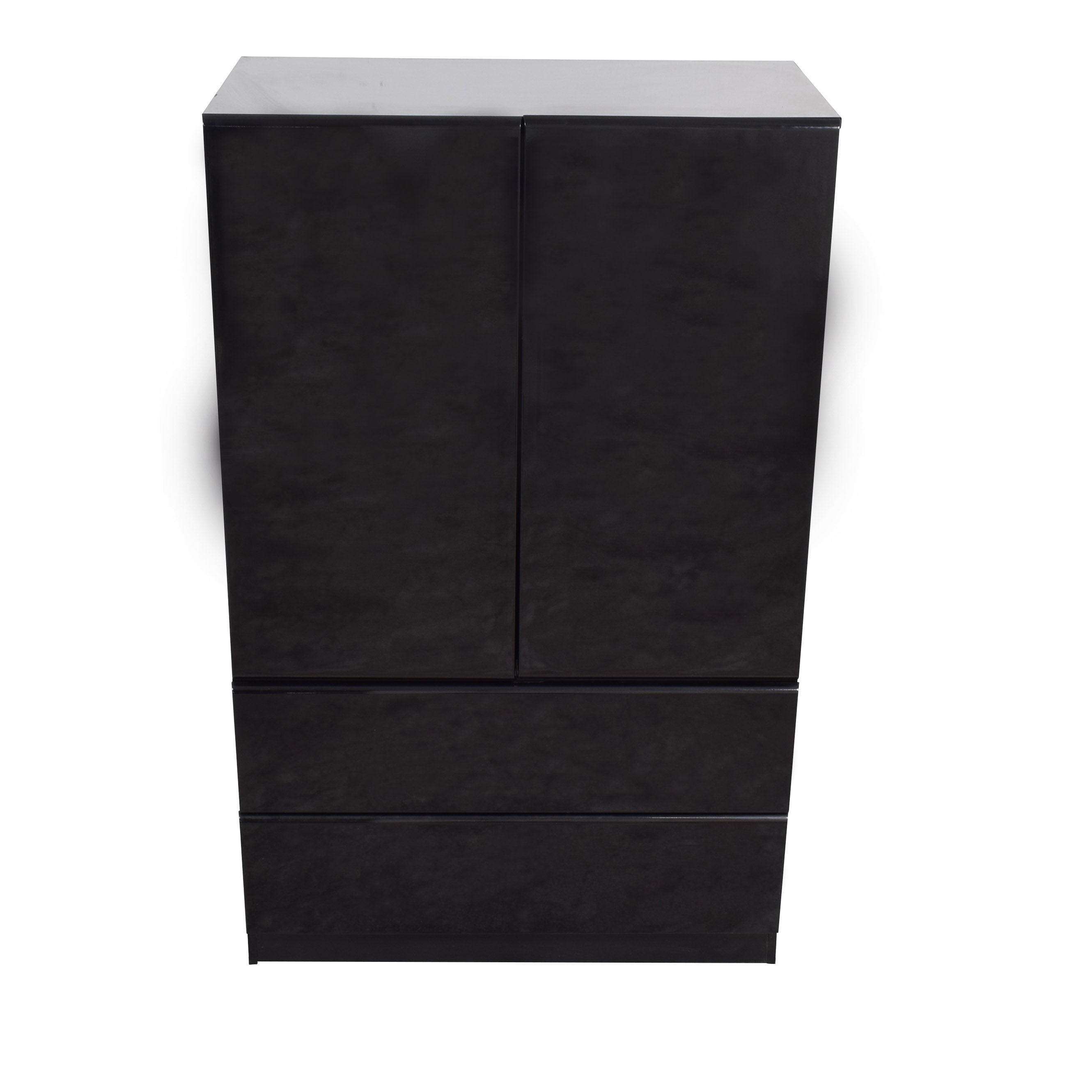 shop Millennium Millennium Black Two-Drawer Clothing Armoire or Tall Dresser online
