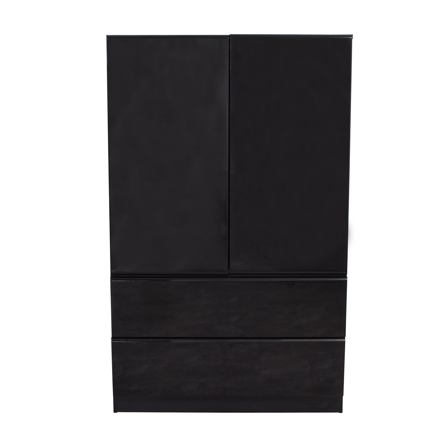 buy Millennium Black Two-Drawer Clothing Armoire or Tall Dresser Millennium Sofas