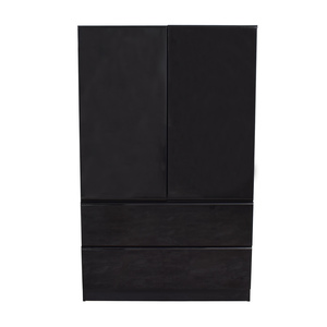 Millennium Black Two-Drawer Clothing Armoire or Tall Dresser sale