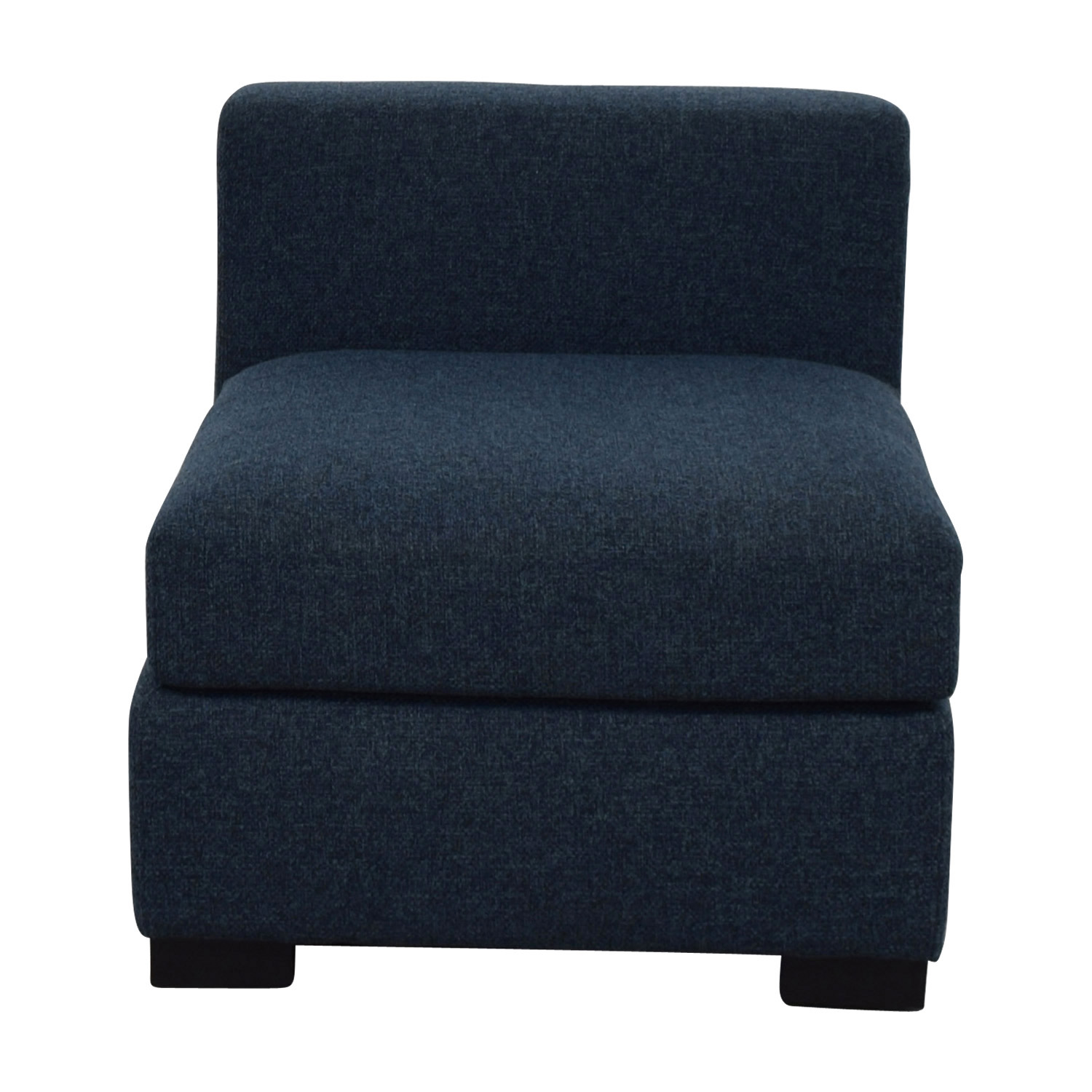 Toby Blue Upholstered Armless Sofa for sale