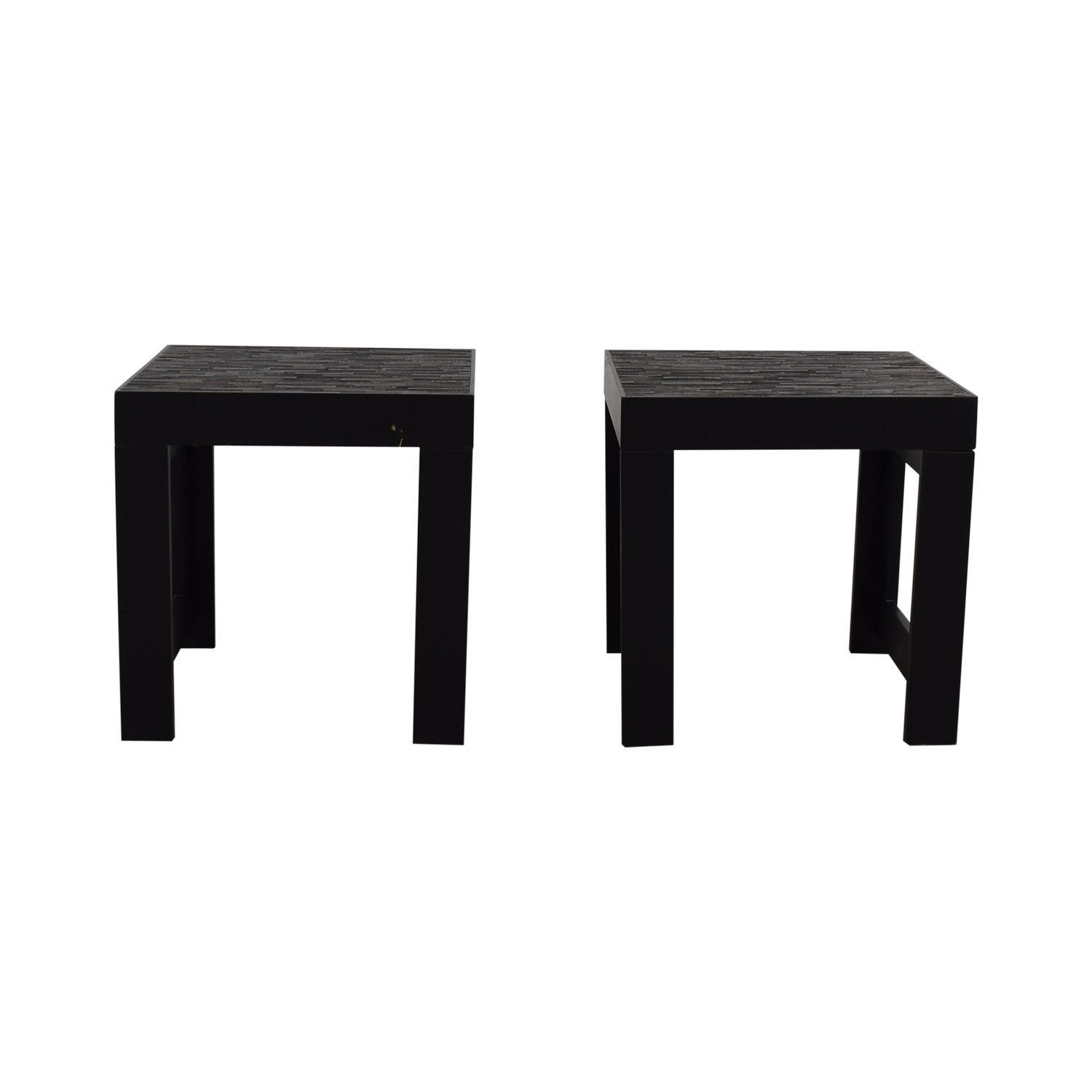 Black Wood Side Tables second hand