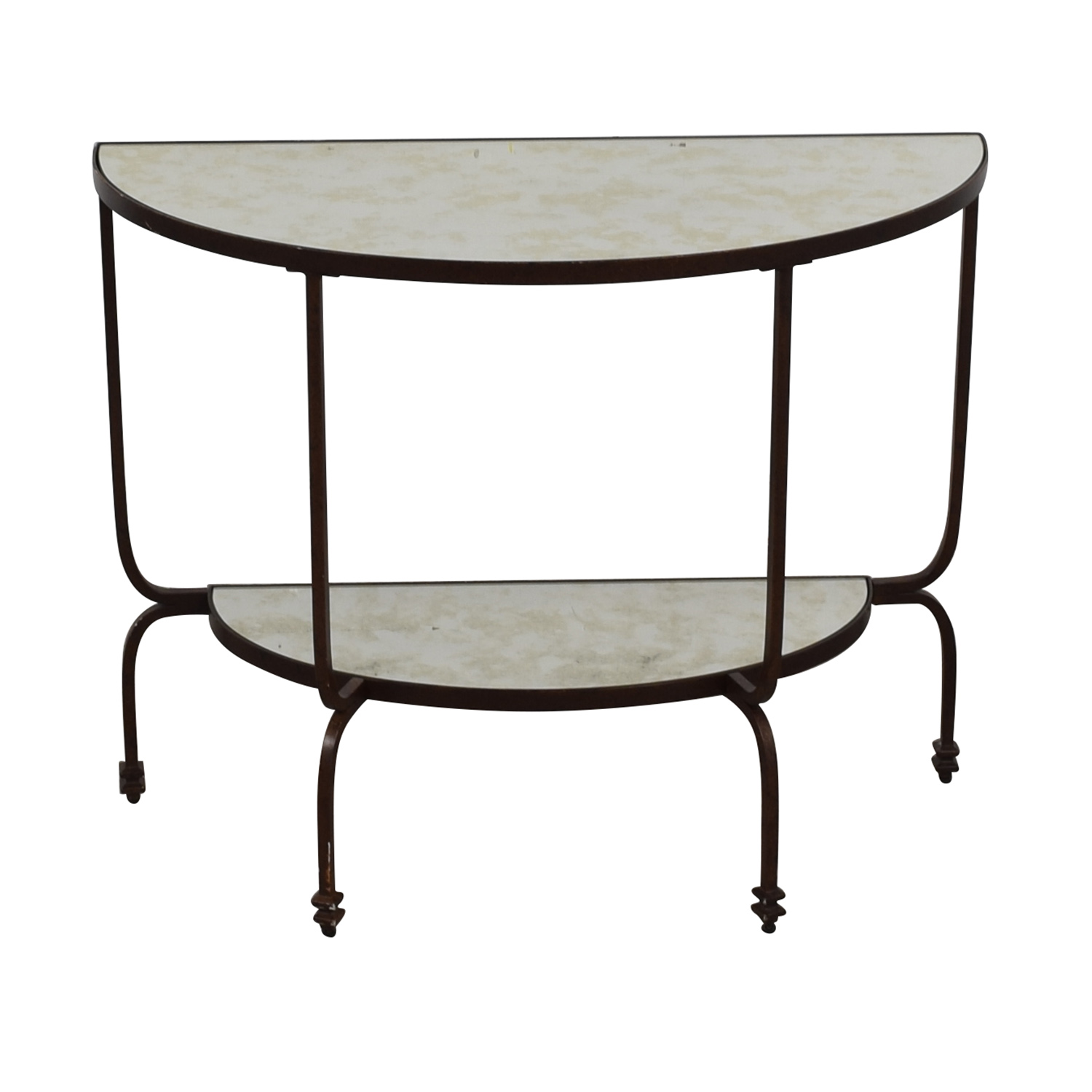 shop Pottery Barn Mirror Finish Side Table Pottery Barn