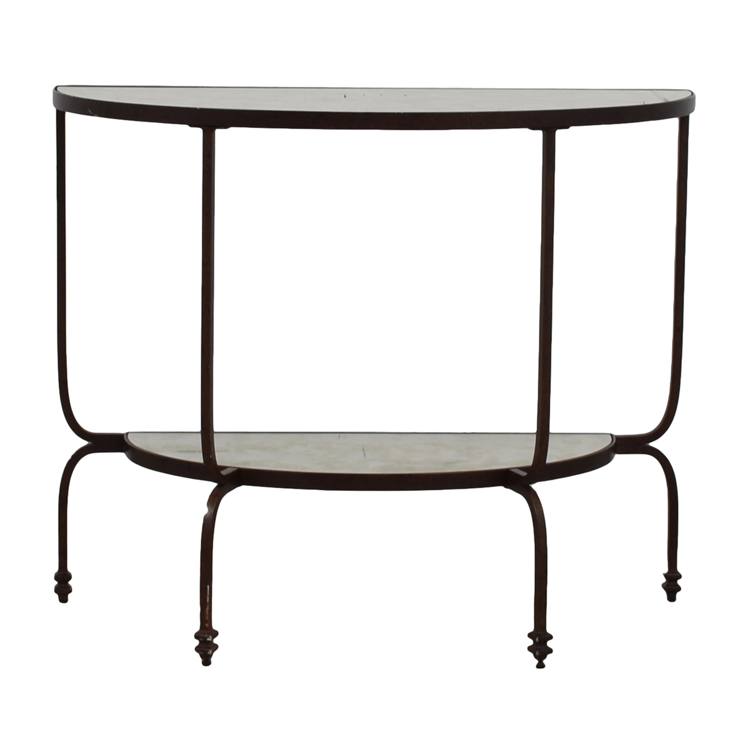 buy Pottery Barn Mirror Finish Side Table Pottery Barn