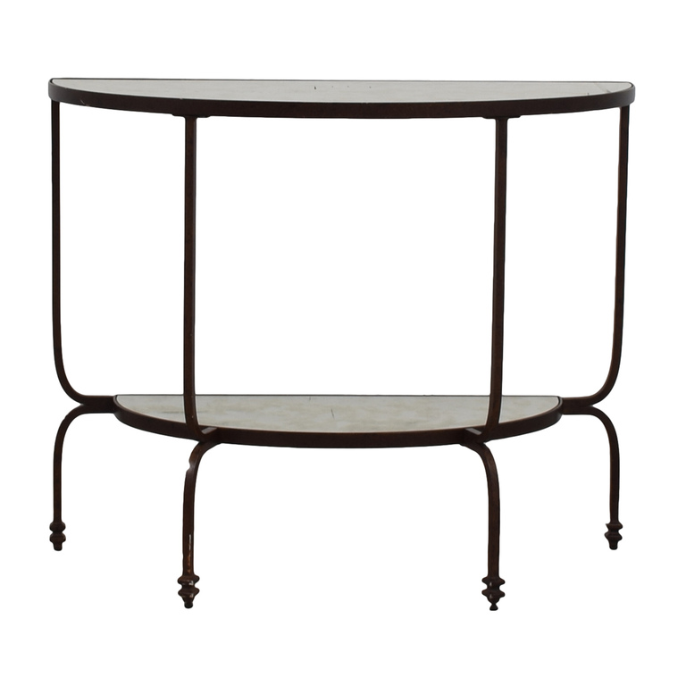Pottery Barn Pottery Barn Mirror Finish Side Table discount