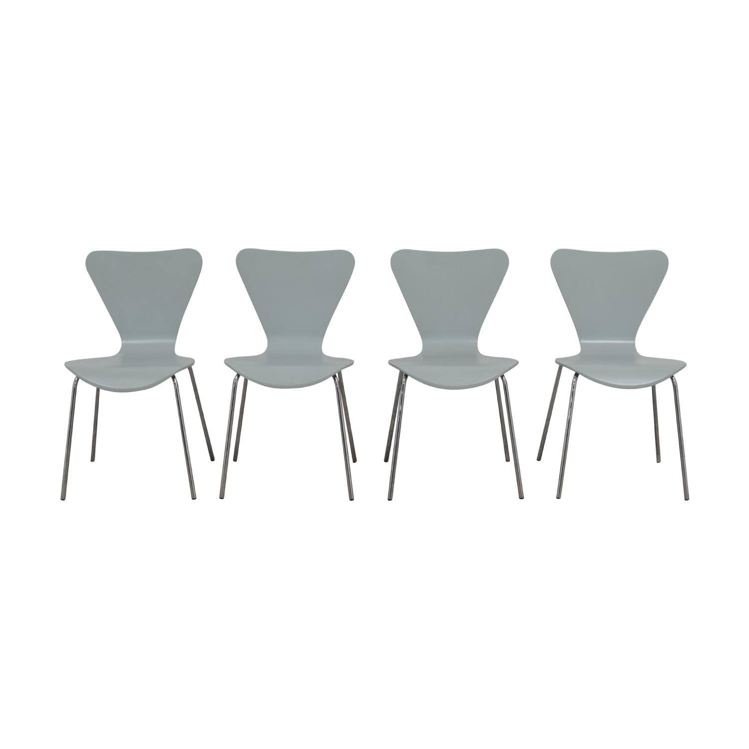 Room & Board Room & Board Jake Light Blue Chairs Dining Chairs