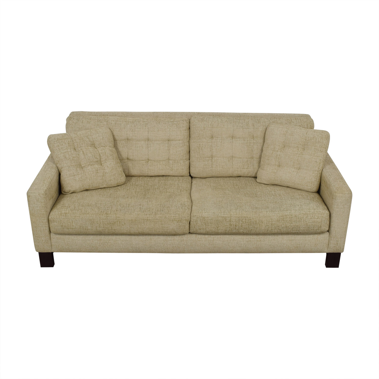 shop American Leather American Leather Beige Tweed Two-Cushion Sofa online