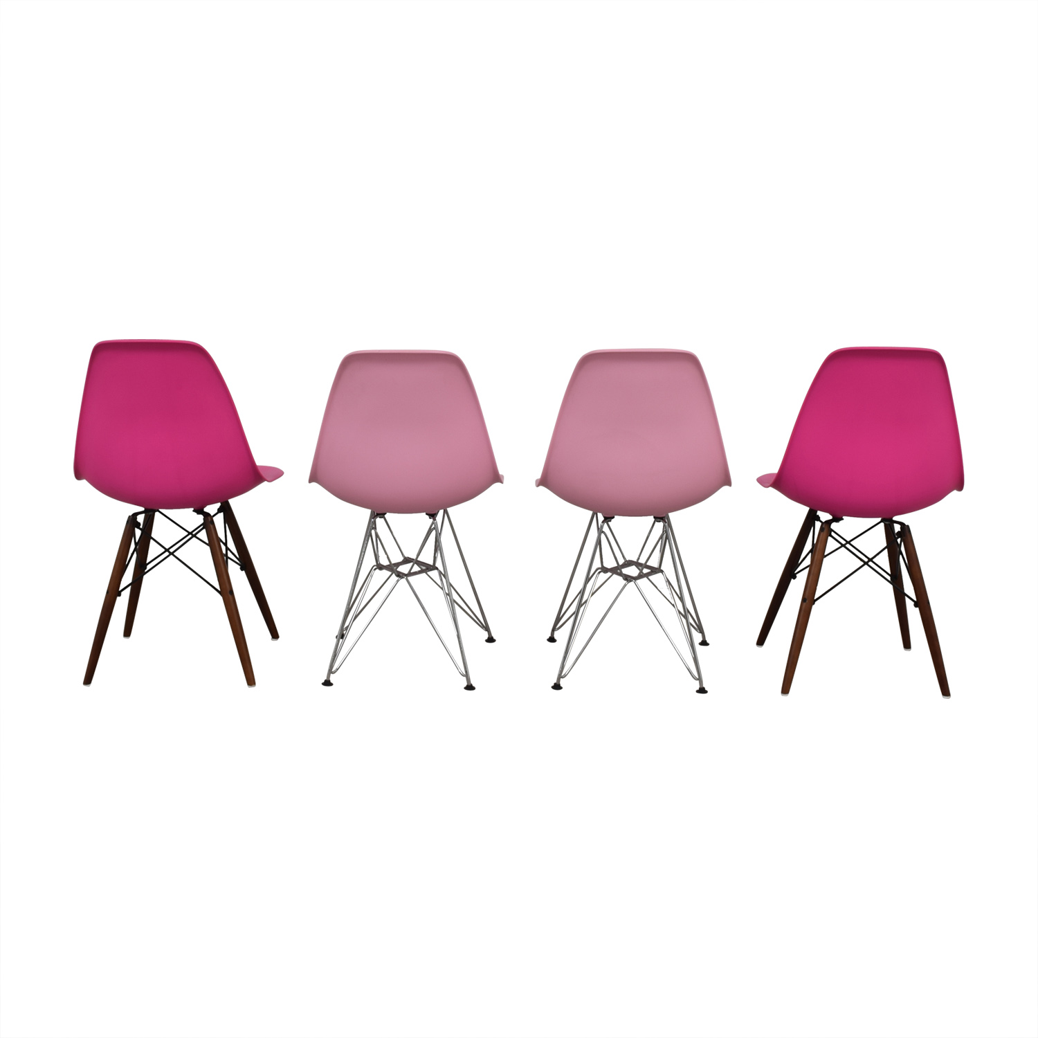 buy Mid Century Style Pink Plastic Chairs  Chairs