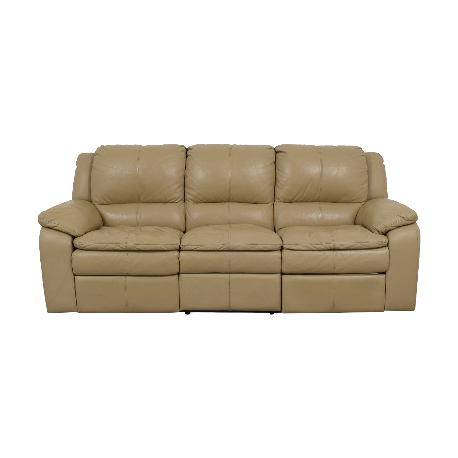 Remarkable 77 Off Jennifer Furniture Jennifer Furniture Beige Leather Three Seater Reclining Sofa Sofas Gmtry Best Dining Table And Chair Ideas Images Gmtryco