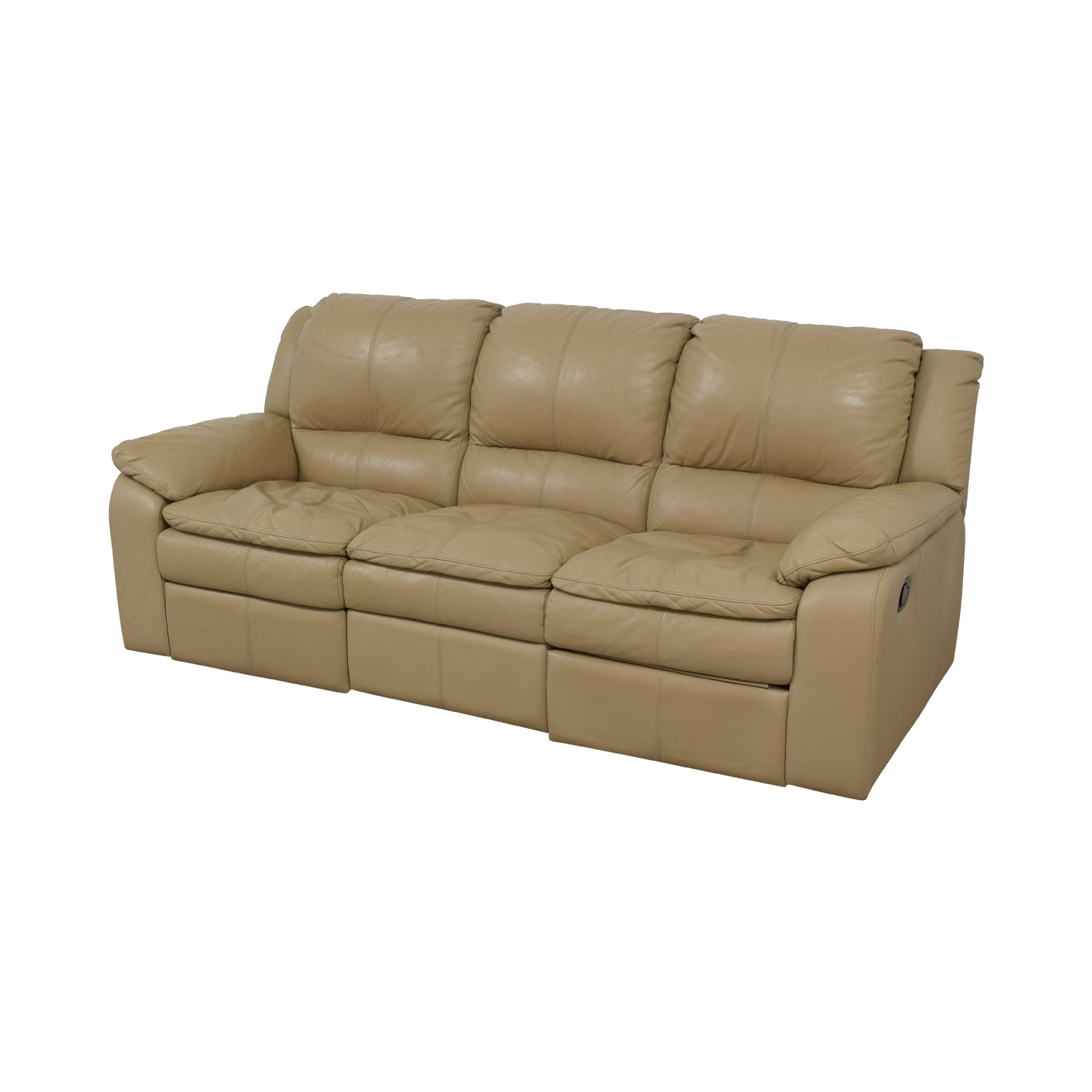 Superb 77 Off Jennifer Furniture Jennifer Furniture Beige Leather Three Seater Reclining Sofa Sofas Gmtry Best Dining Table And Chair Ideas Images Gmtryco