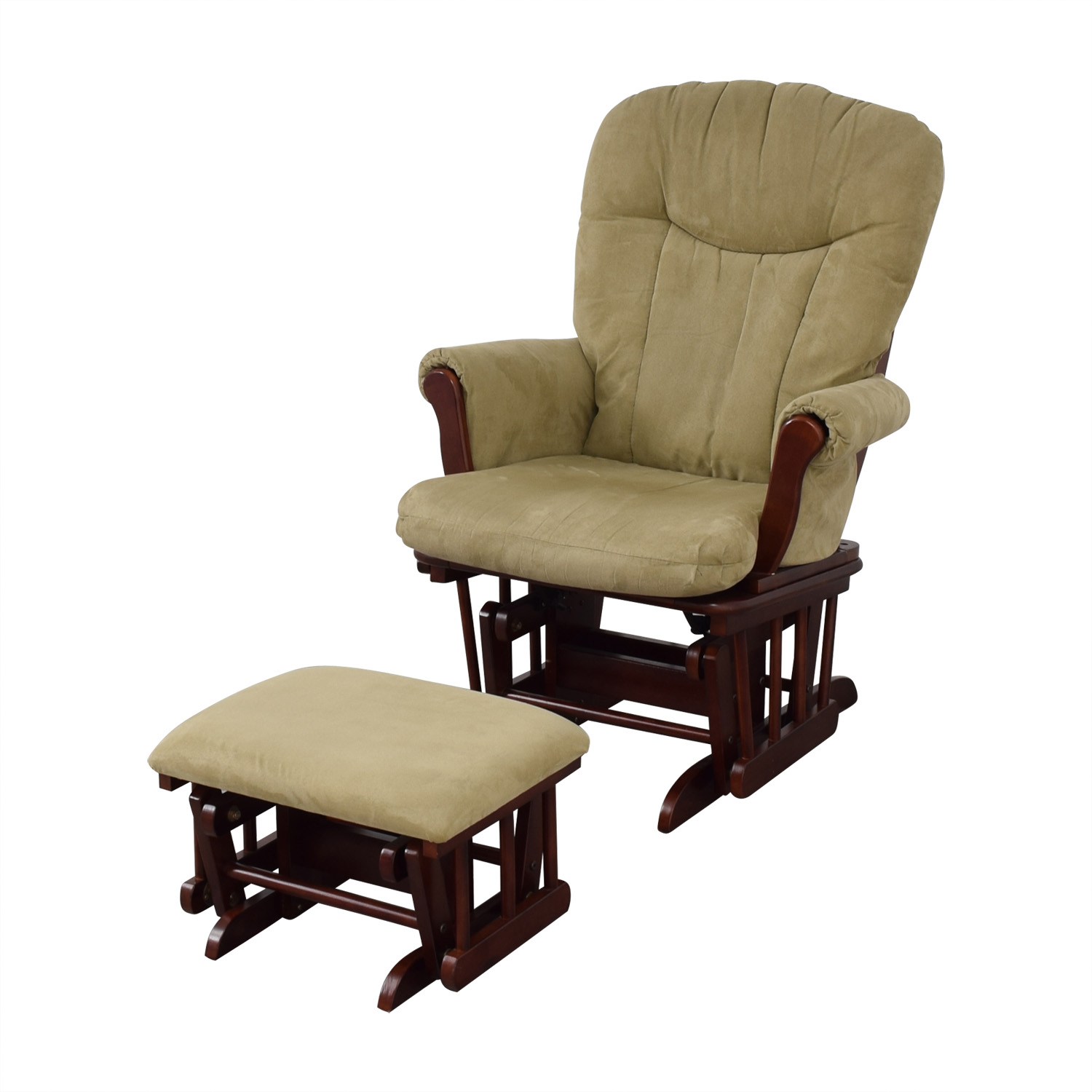 87 Off Shermag Buy Buy Baby Tan Rocking Chair And Foot Rest Chairs