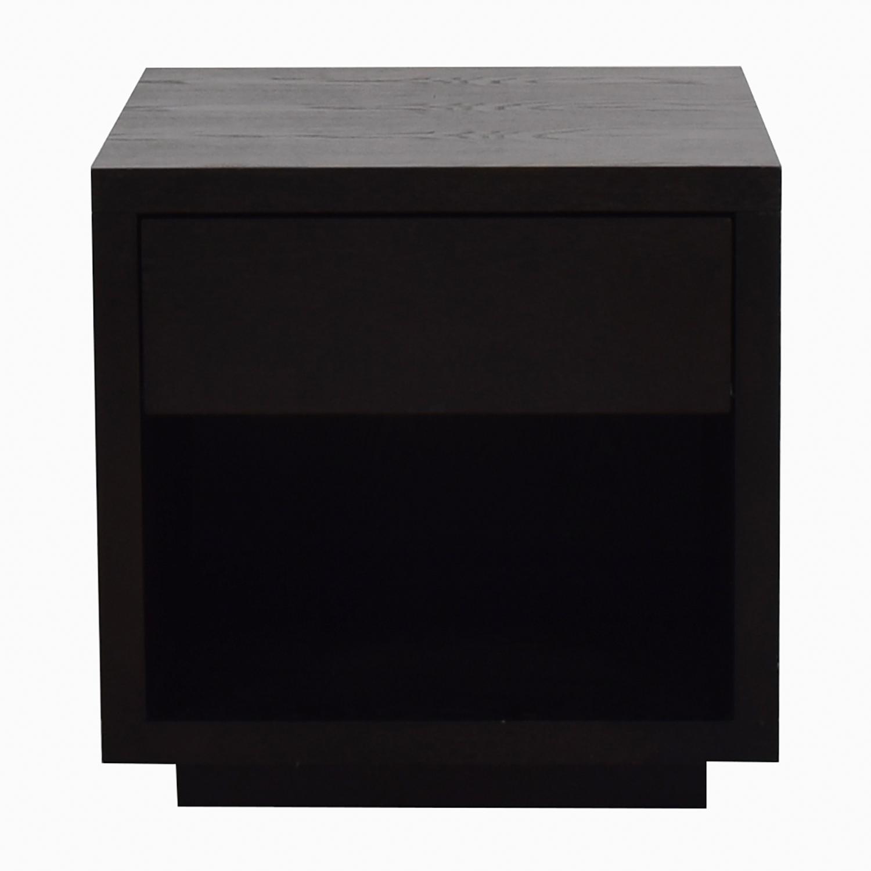 Room & Board Black Nightstand with Storage Room & Board