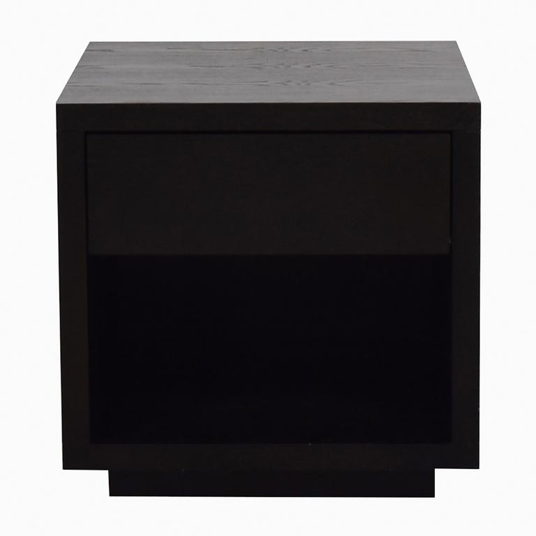 shop Room & Board Black Nightstand with Storage Room & Board