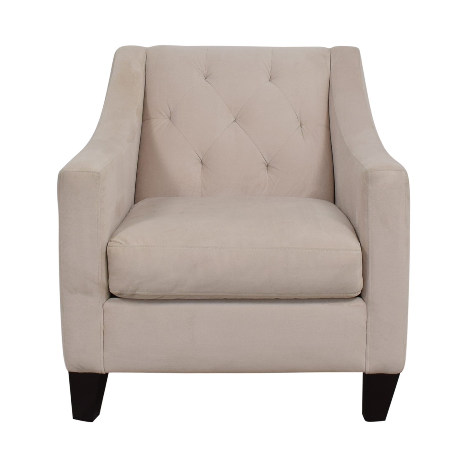 shop Max Home Tufted Cream Velvet Arm Chair Max Home Chairs
