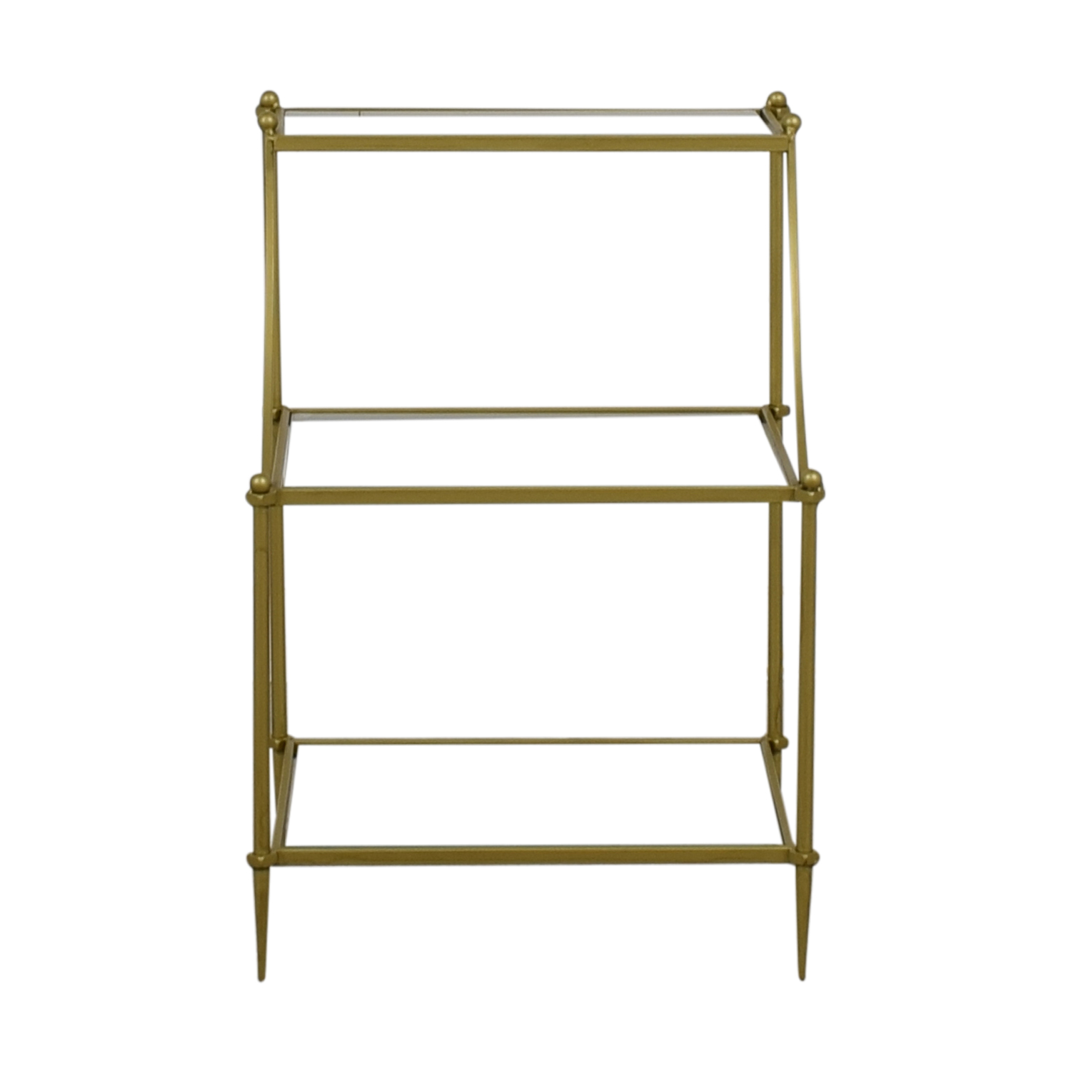 Urban Outfitters Urban Outfitters Gold and Glass Side Table nj