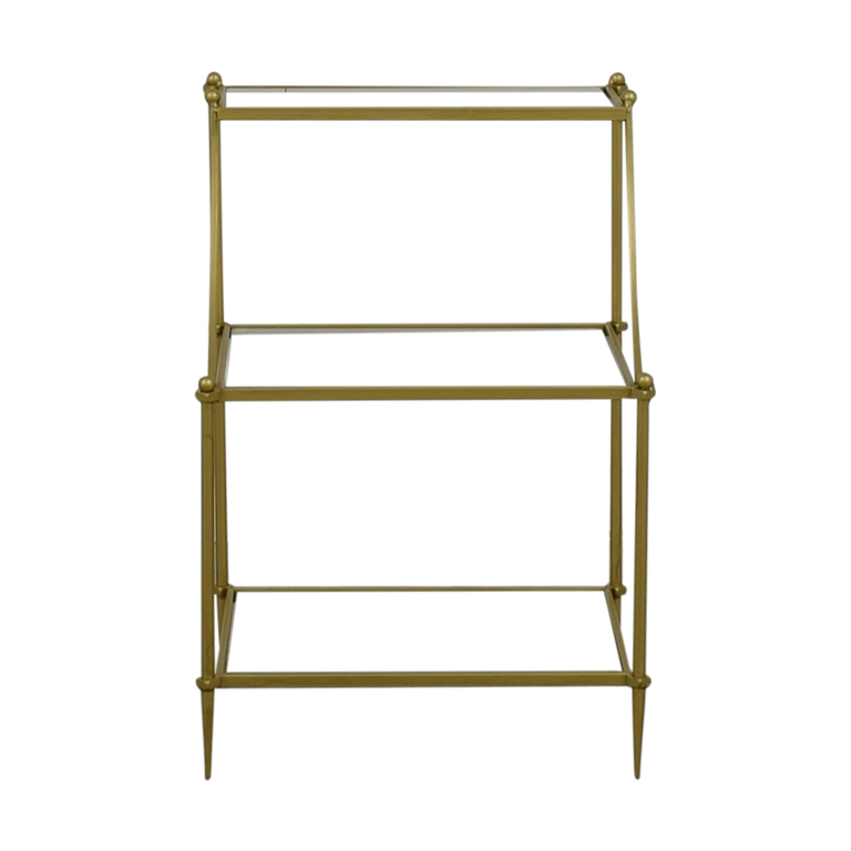 buy Urban Outfitters Gold and Glass Side Table Urban Outfitters