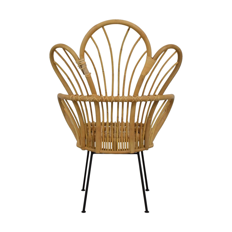 Bamboo Bohemian Fan Accent Chair Chairs
