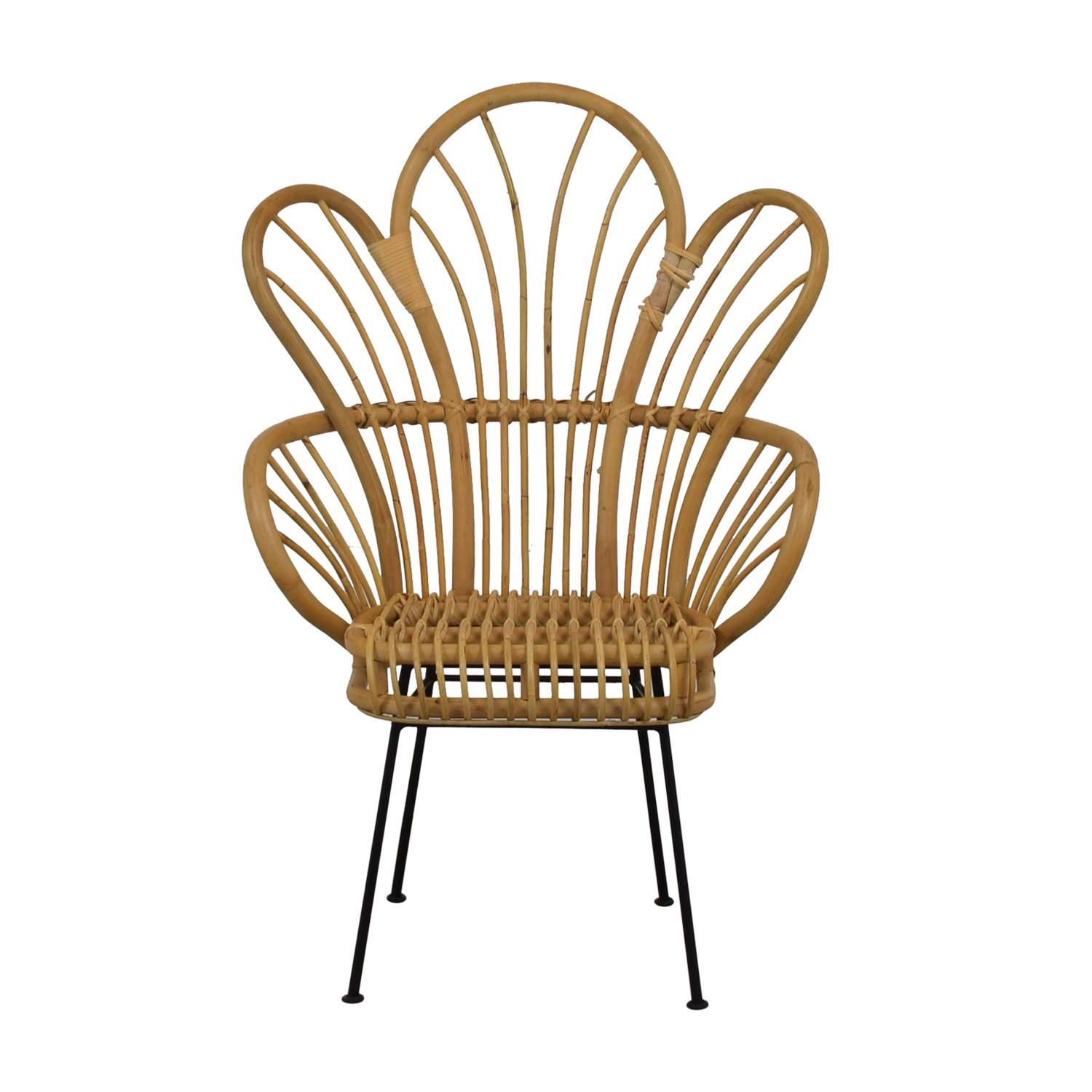 shop Bamboo Bohemian Fan Accent Chair  Accent Chairs