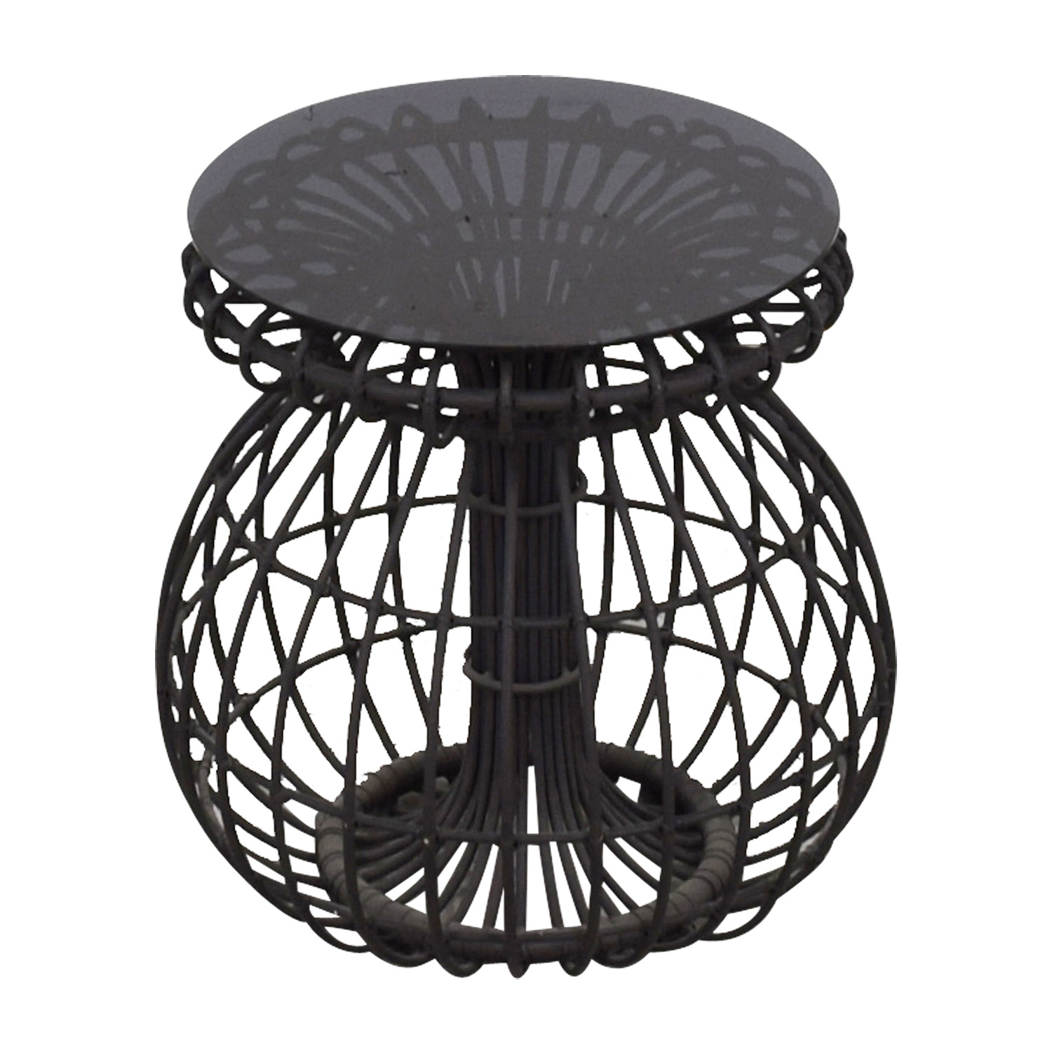 CB2 CB2 Charcoal Cut Out Side Table
