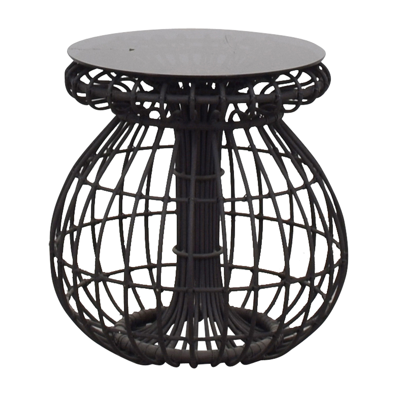 CB2 CB2 Charcoal Cut Out Side Table Tables