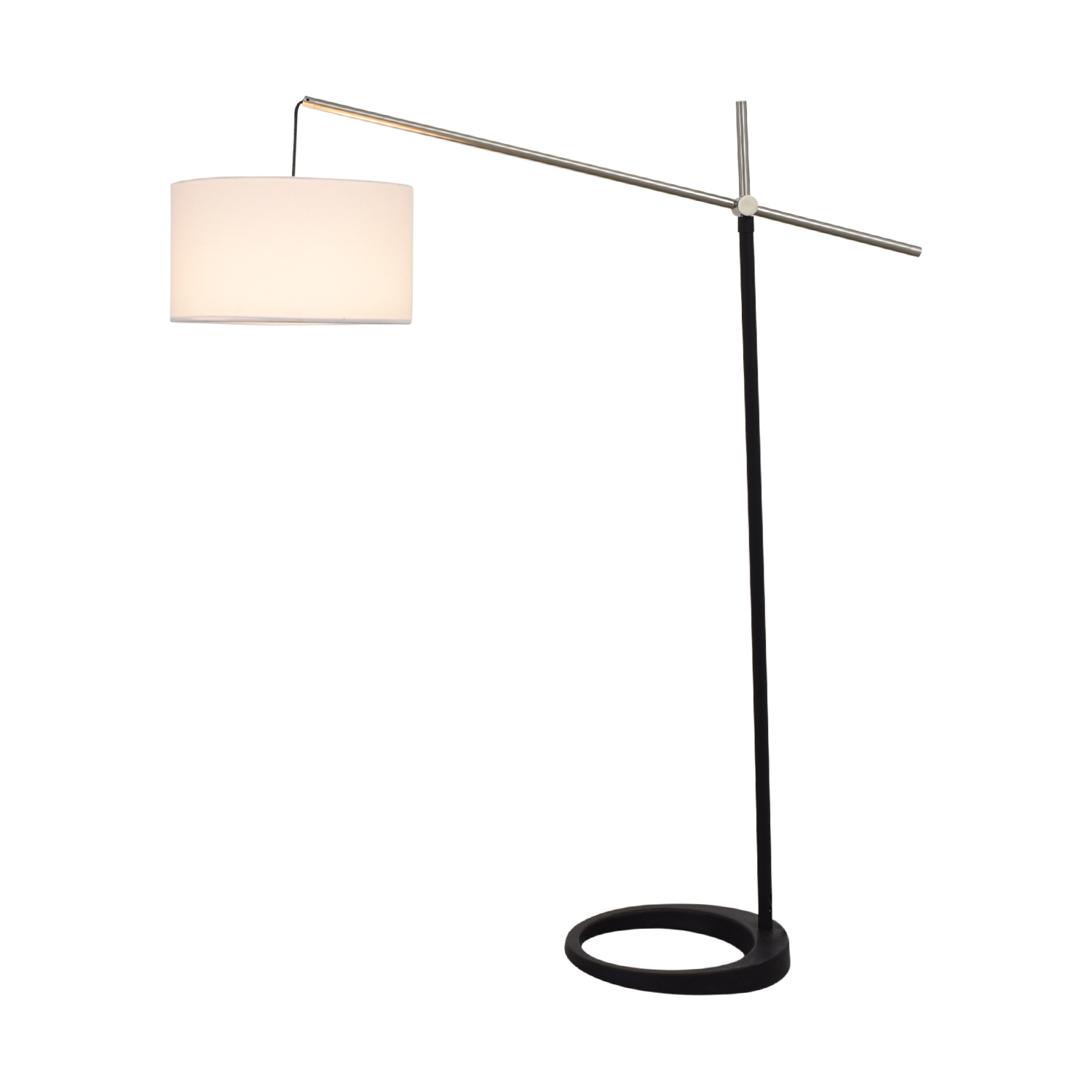buy Black and Chrome Floor Lamp  Lamps