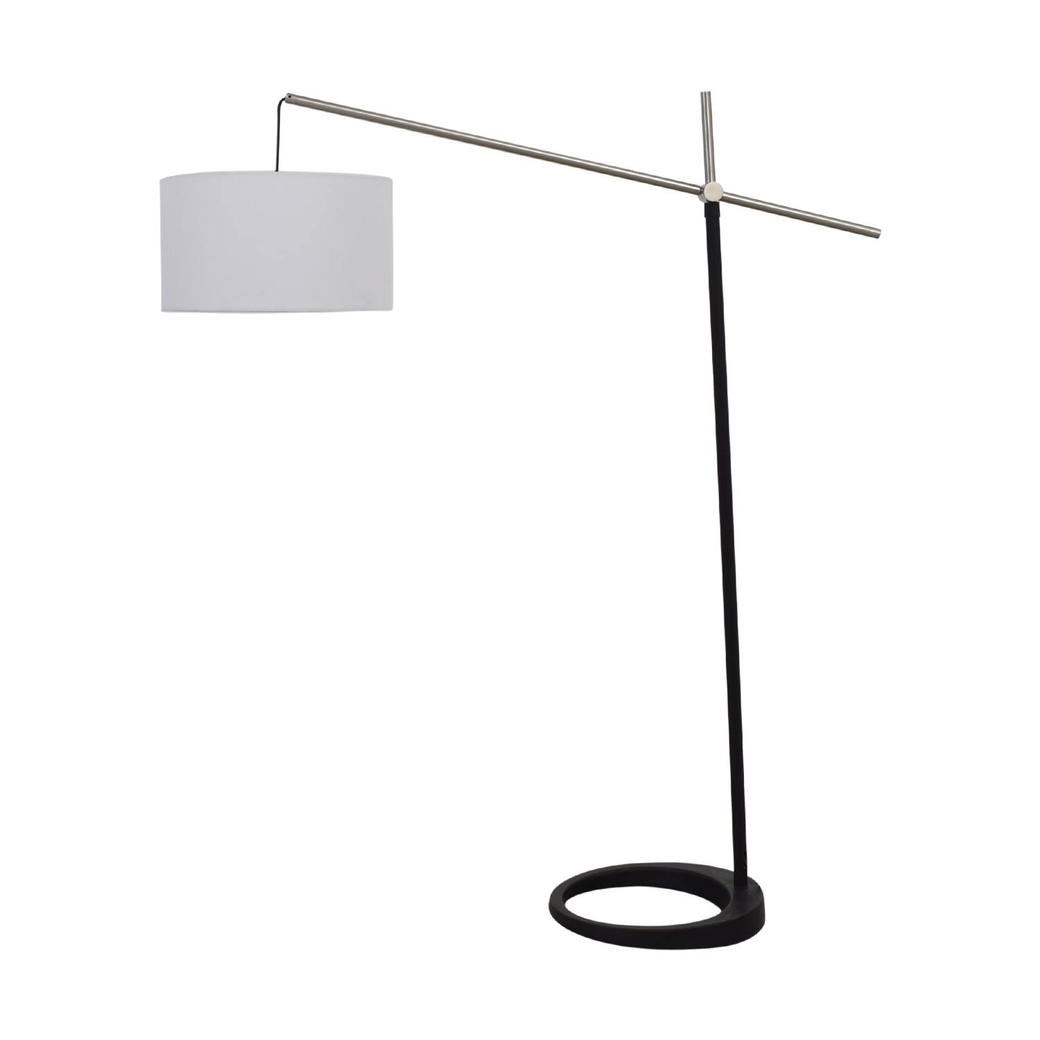 buy Black and Chrome Floor Lamp  Decor