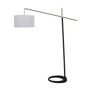 Black and Chrome Floor Lamp