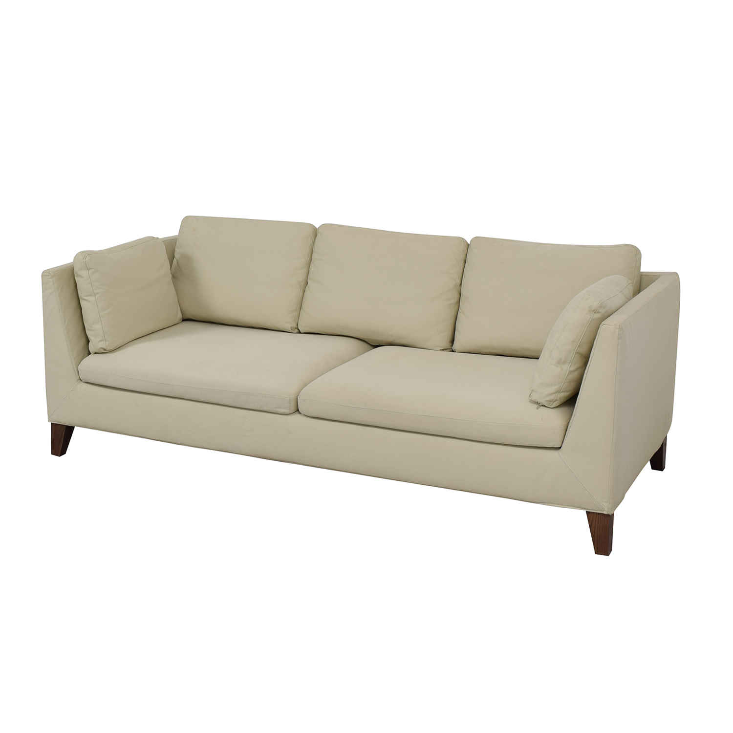 Ikea Stockholm Beige Two Cushion Sofa