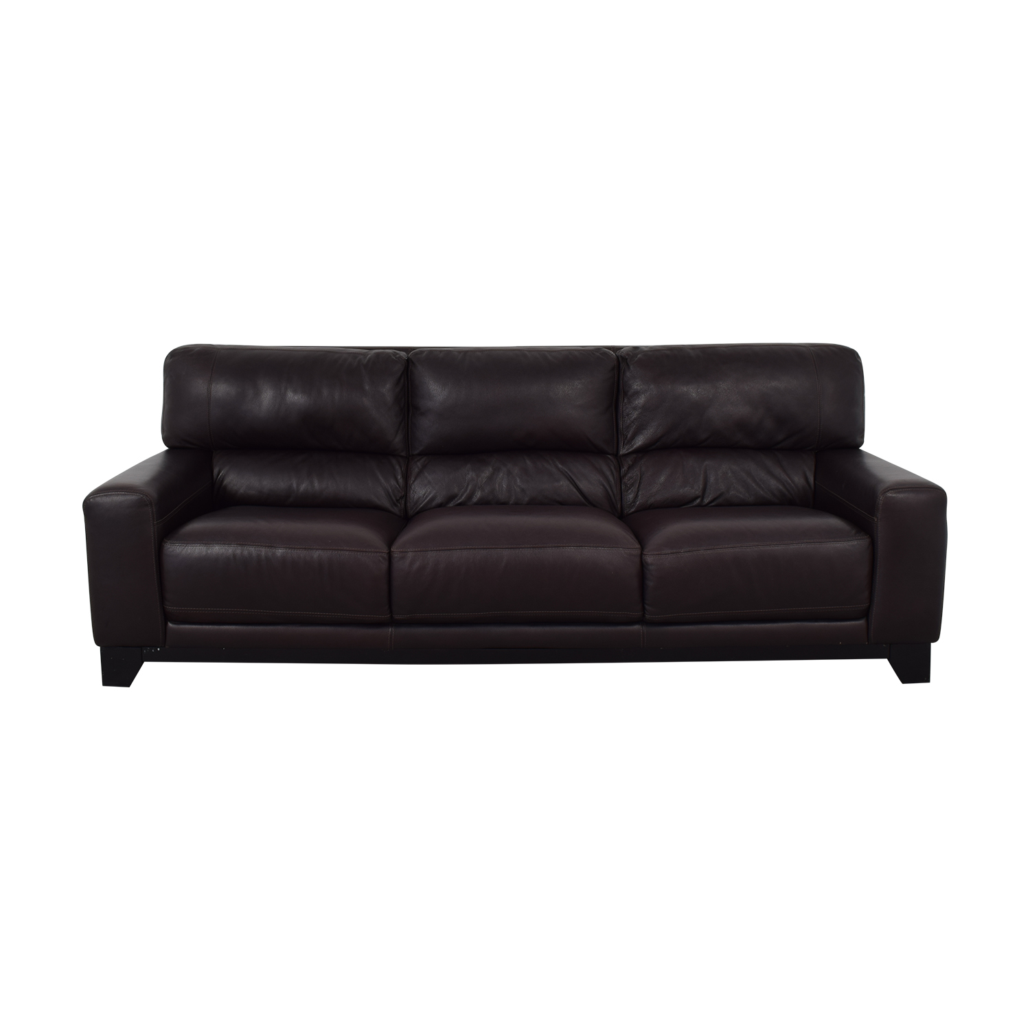 shop Luke Brown Leather Three-Cushion Sofa Luke Sofas