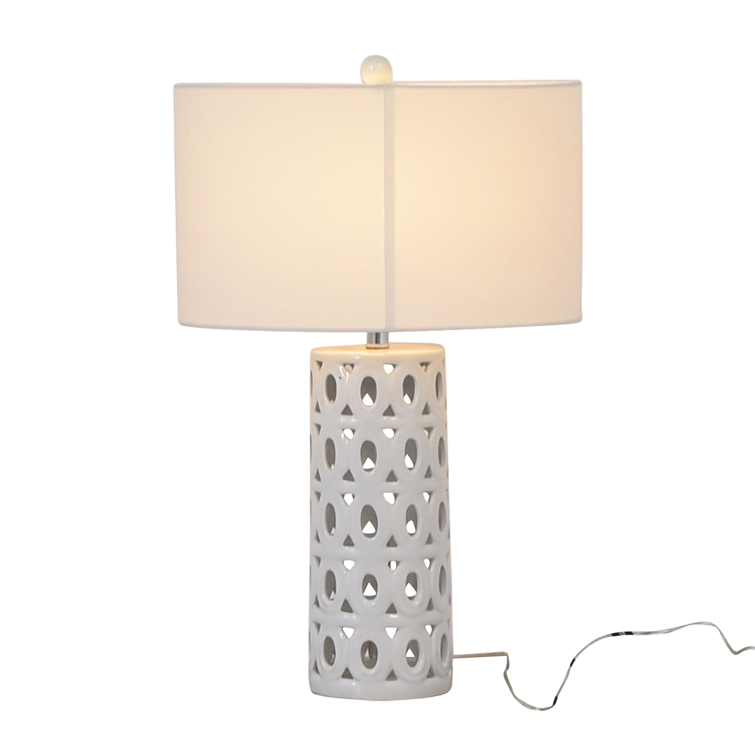 Crate & Barrel Crate & Barrel White Cut Out Table Lamp discount