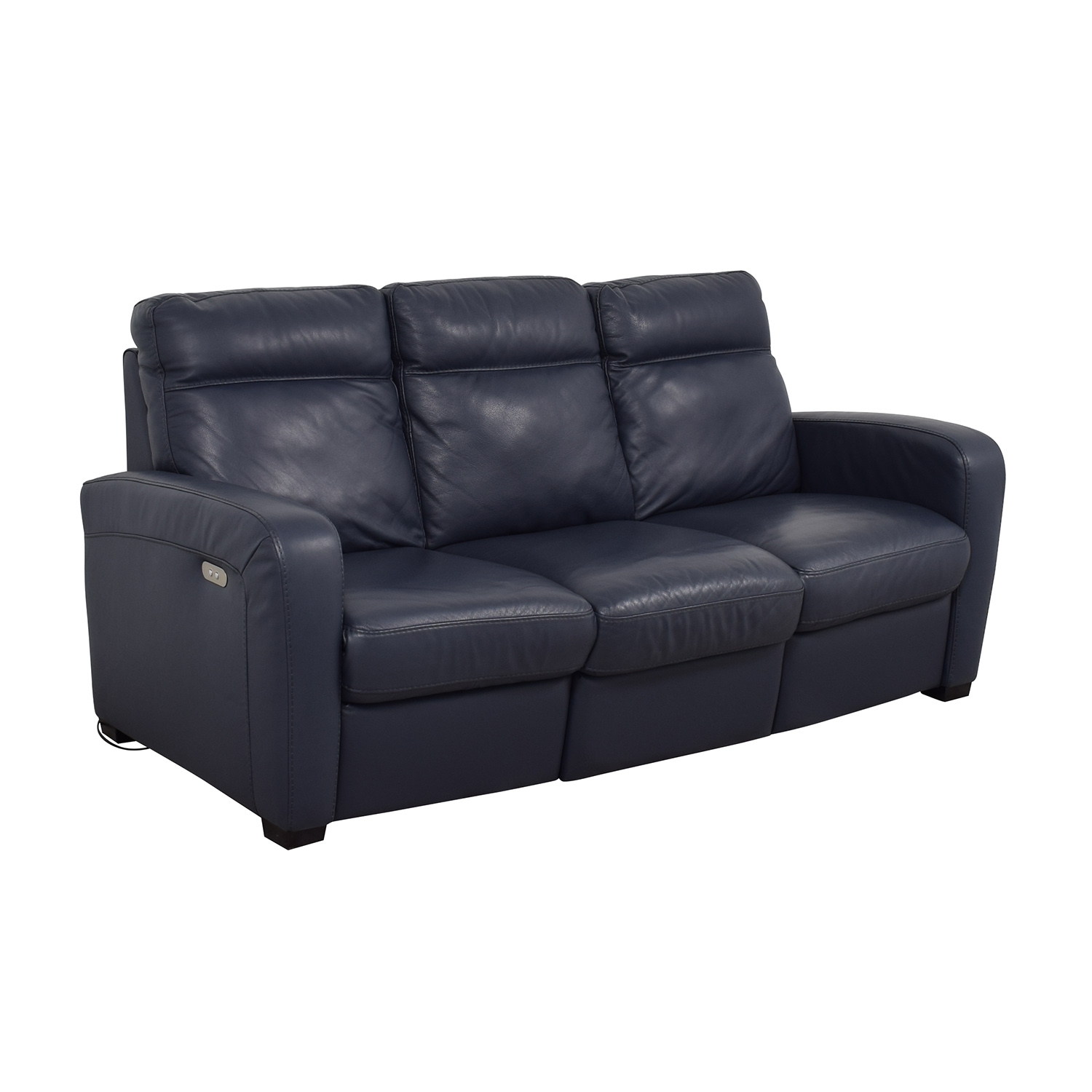 Marvelous 50 Off Natuzzi Natuzzi Rodrigo Navy Leather Power Reclining Sofa Sofas Gmtry Best Dining Table And Chair Ideas Images Gmtryco