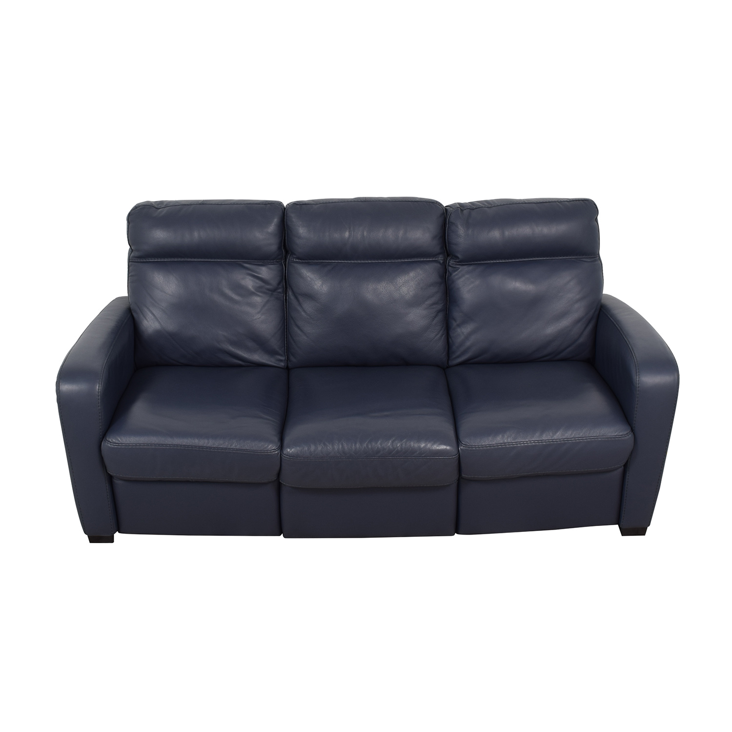 90 Off Natuzzi Natuzzi Rodrigo Navy Leather Power