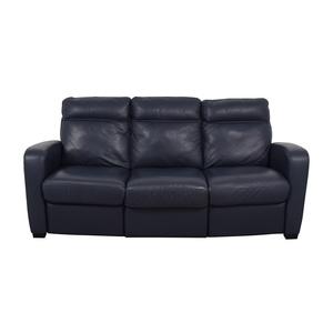 Natuzzi Natuzzi Rodrigo Navy Leather Power Reclining Sofa on sale
