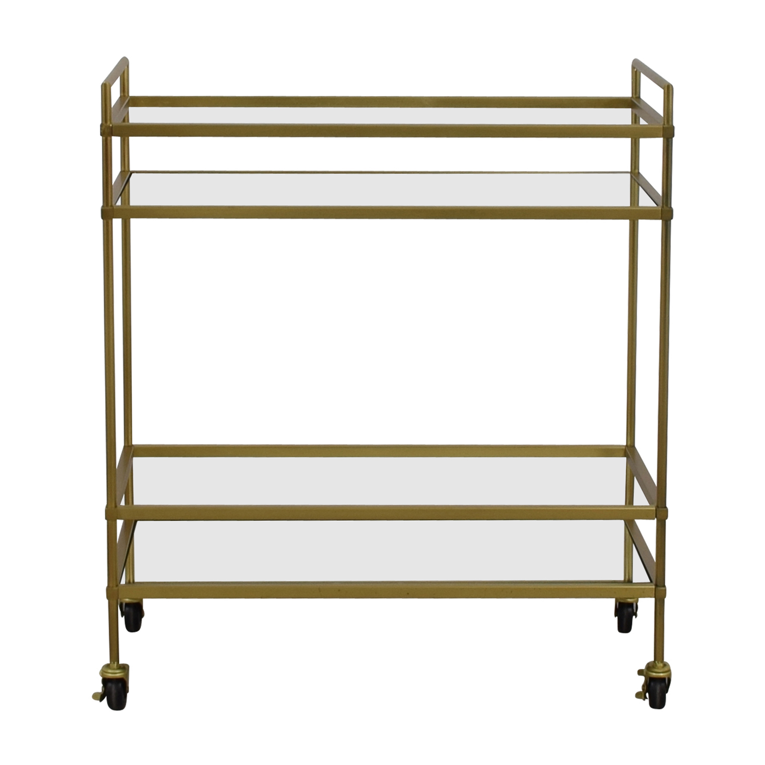 West Elm West Elm Gold Mirrored Bar Cart used