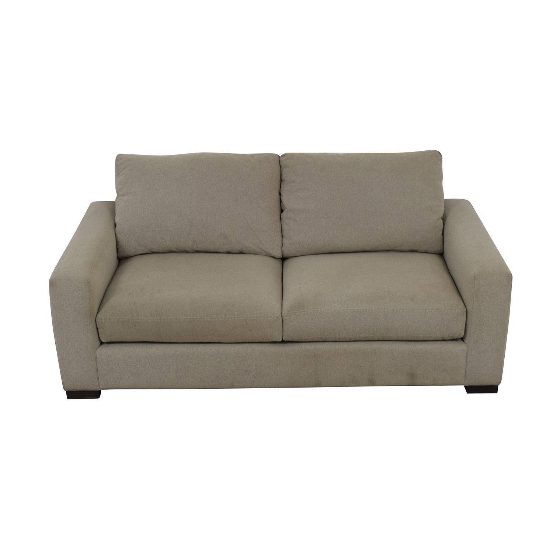 Room & Board Room & Board Metro Gray Two-Cushion Sofa price