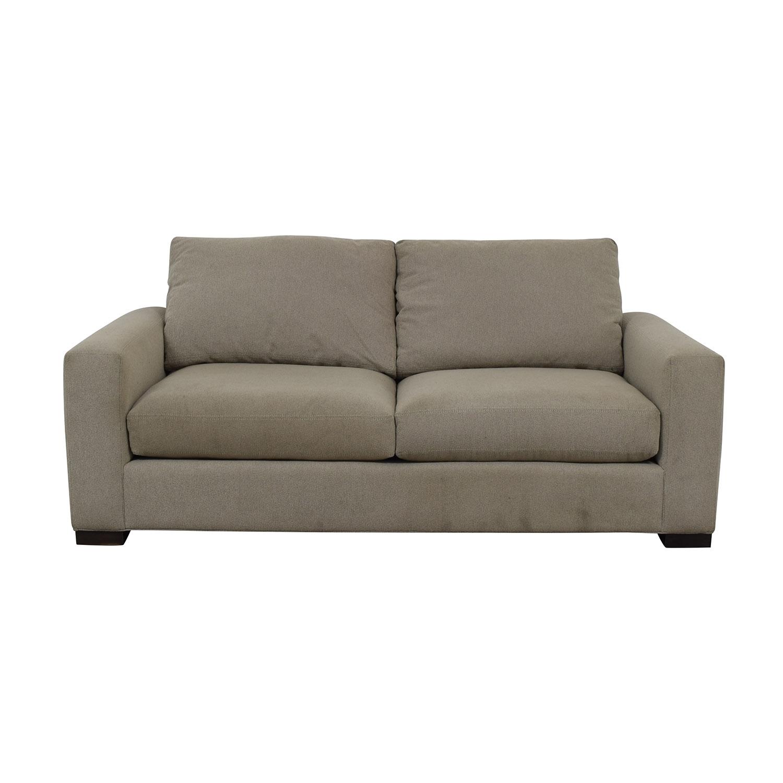 buy Room & Board Metro Gray Two-Cushion Sofa Room & Board Classic Sofas