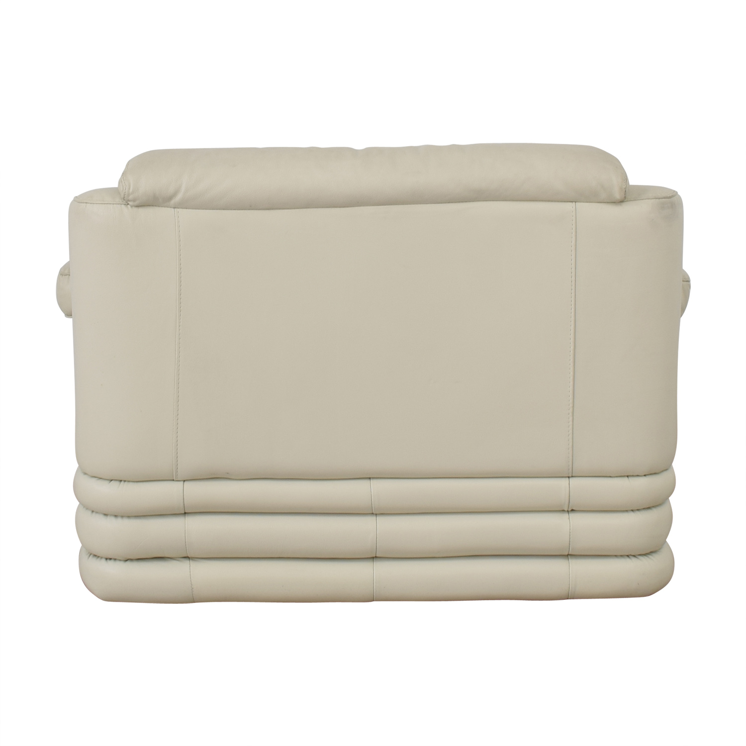 White Leather Loveseat discount