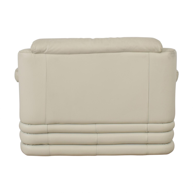 White Leather Loveseat price