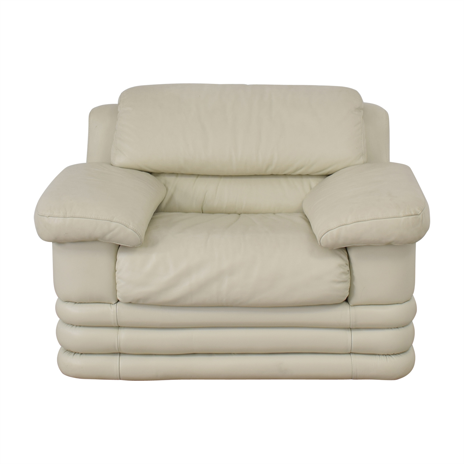 shop  White Leather Loveseat online