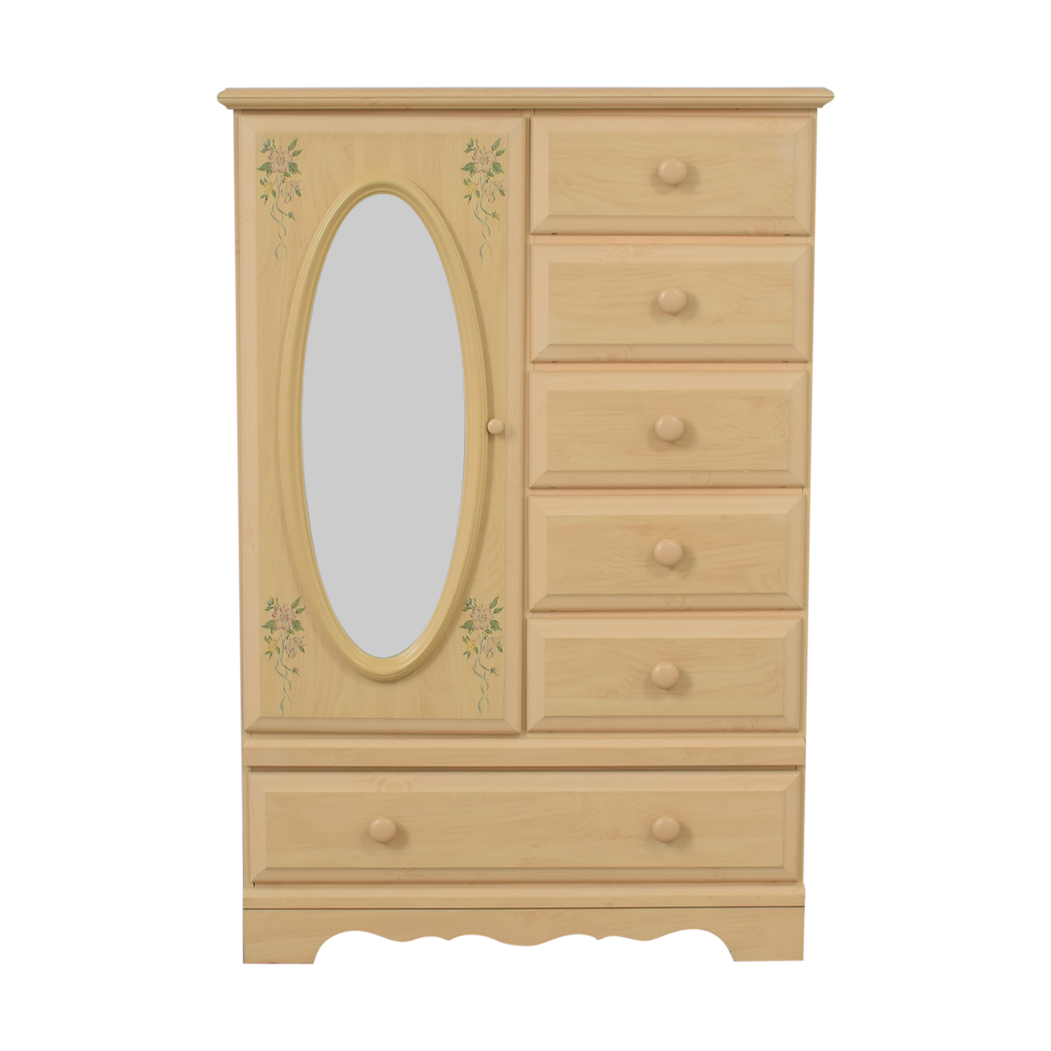DMI Furniture DMI Furniture Vintage Wood Six-Drawer Child's Armoire with Mirror