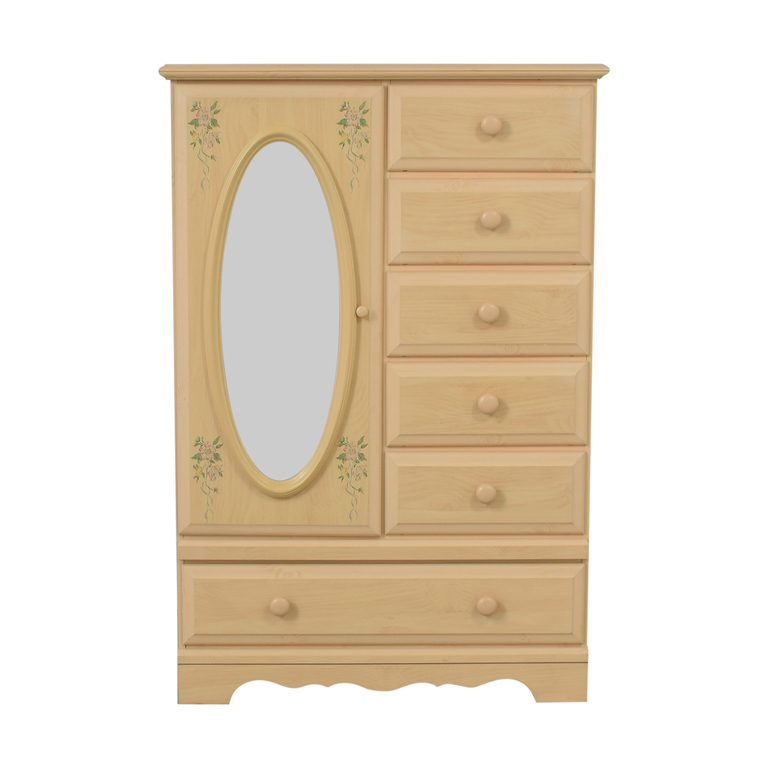 buy DMI Furniture DMI Furniture Vintage Wood Six-Drawer Child's Armoire with Mirror online