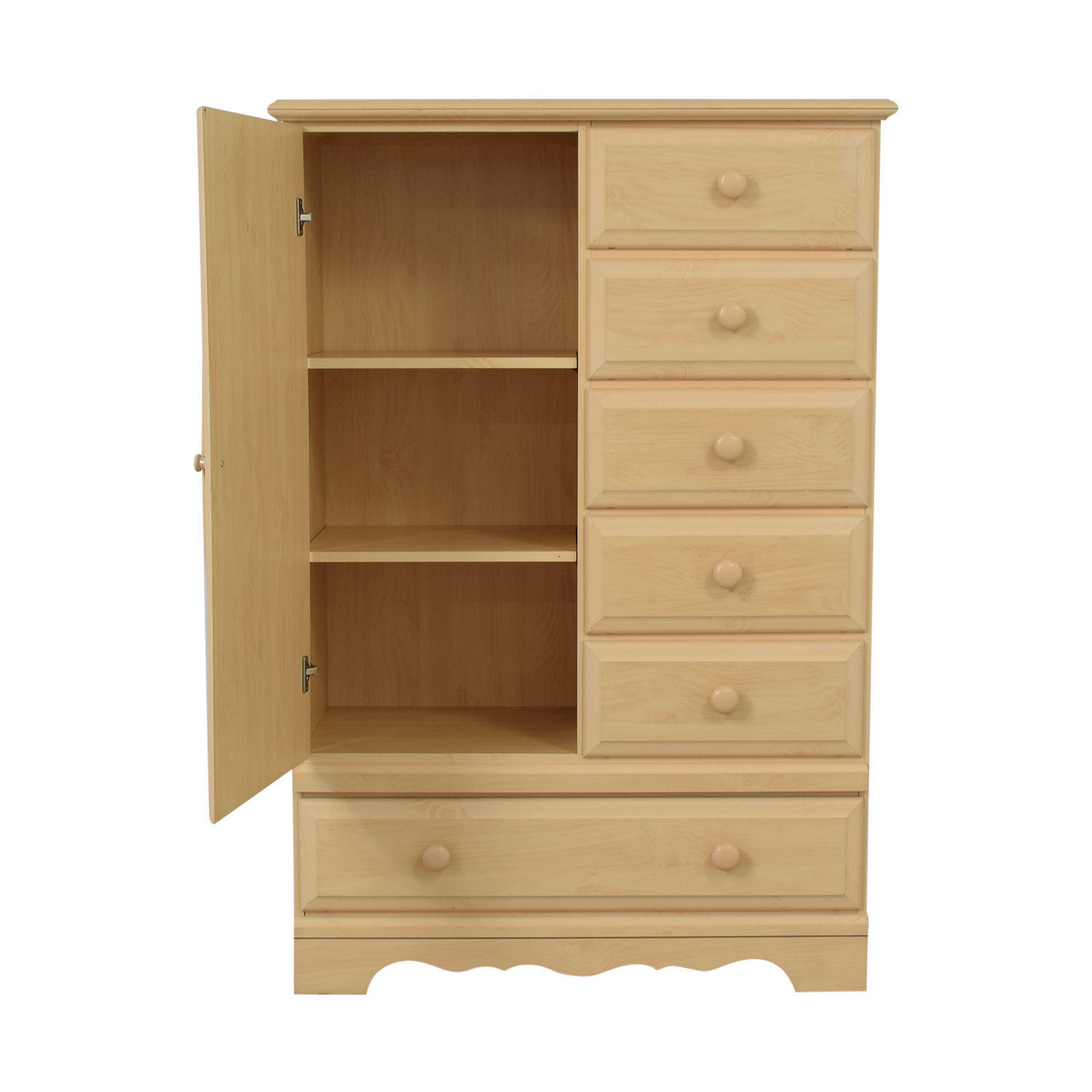 DMI Furniture DMI Furniture Vintage Wood Six-Drawer Child's Armoire with Mirror nyc
