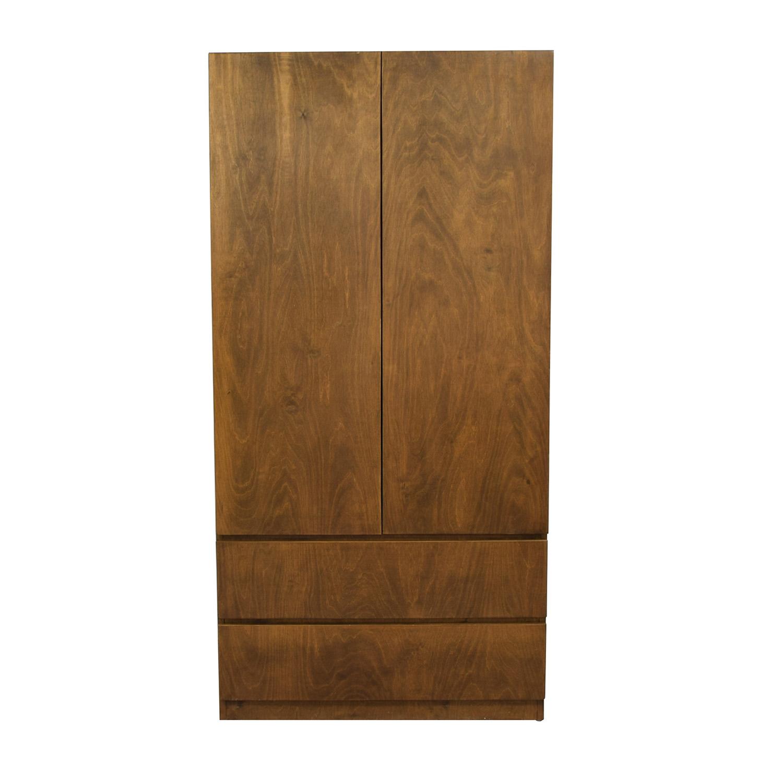 Gothic Cabinet Craft Gothic Cabinet Craft Two-Drawer Wardrobe Closet on sale